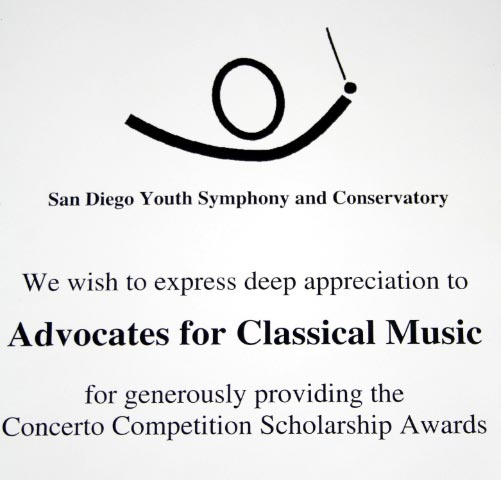Youth Symphony Certificate
